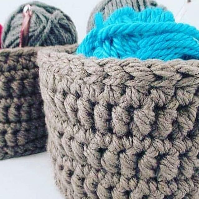 Not only do I make baskets with recycled