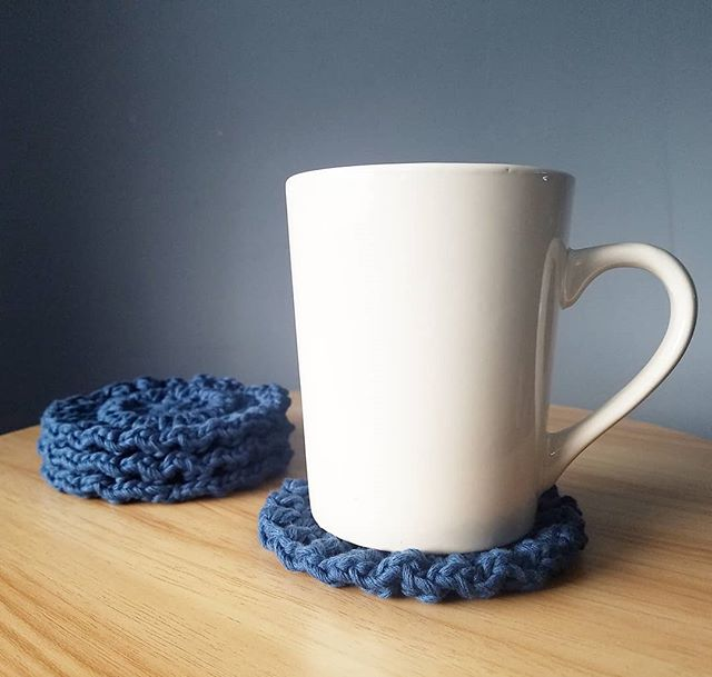 Boho Bolster Coasters with my morning te