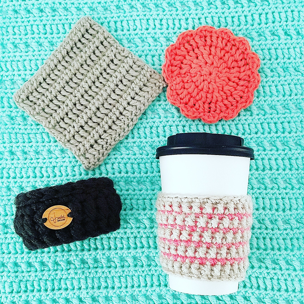 A few items made using the Bolster Stitch