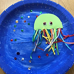 We did our jellyfishes today in a small