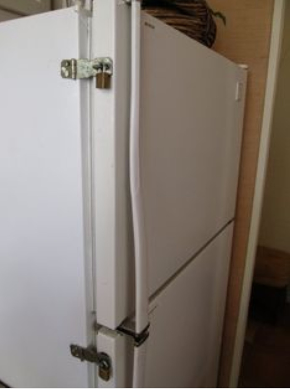 Dont get locked out of your fridge 😂