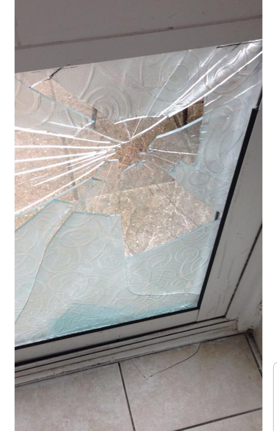 What a pane......a broken window!