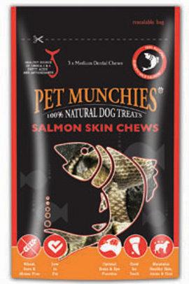 Pet Munchies medium Salmon Skin chews