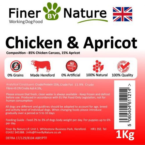 Finer by nature - Chicken and Apricot 1kg