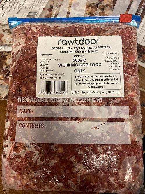 Rawtdoor - Chicken and beef 500g