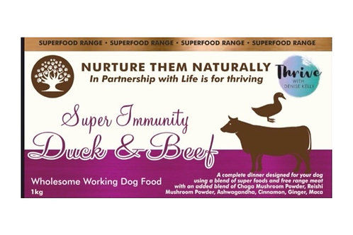 Nurture them naturally - Super Immunity Duck and Beef 1kg