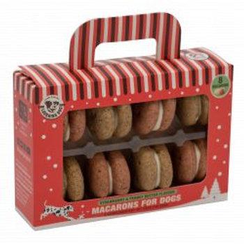 Xmas Macarons -Strawberry & Peanut Butter