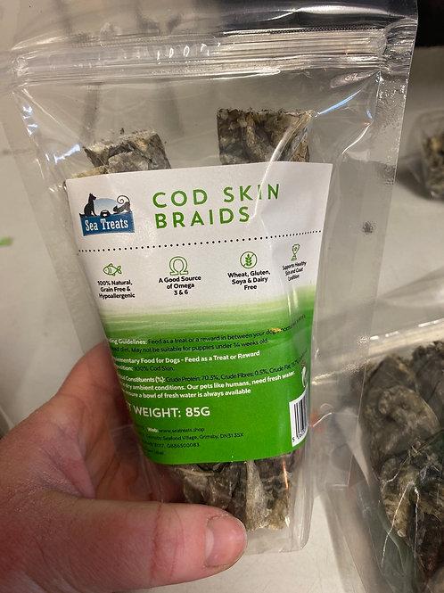 Sea Treats - Cod Skin Braids 85g