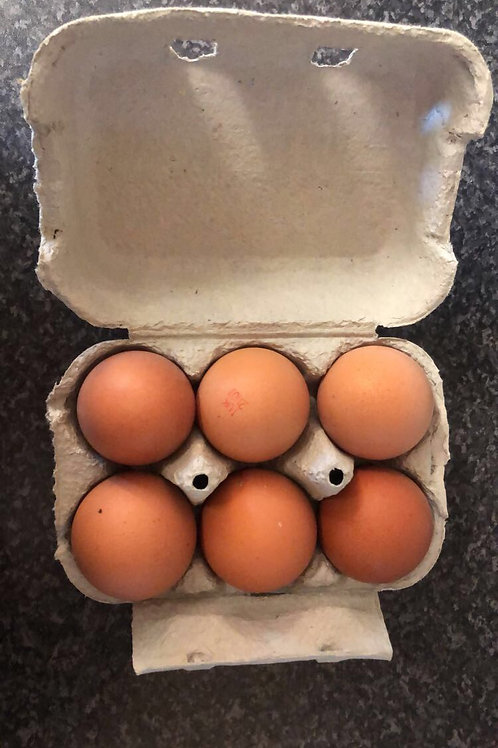 Large, Free range, hen eggs x6