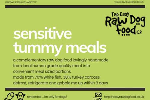 Easy Raw Dog - Sensitive Tummy (Turkey/ Fish) (no offal)