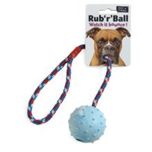 Ruff 'N' Tumble Rub 'R' Ball Rope & Ball Tug Toy 6cm