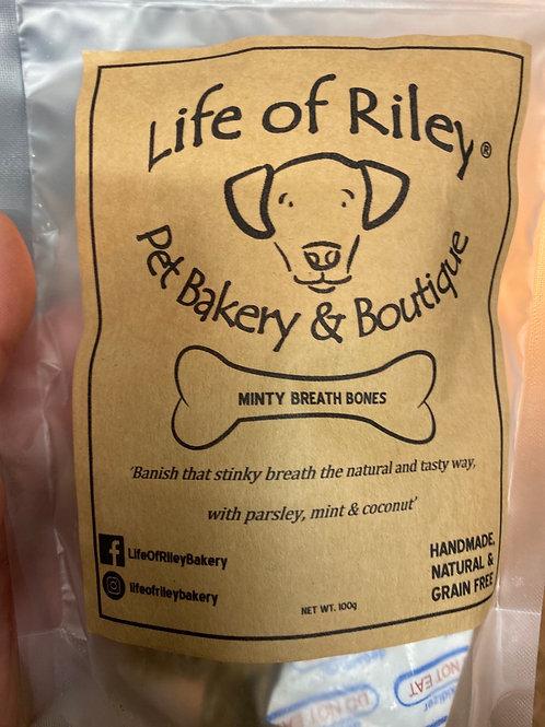 Life of riley 100g minty breath bones