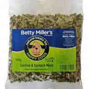 Betty Miller Sardine & Spinach minis 500g