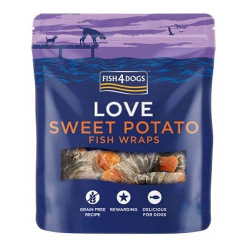 Fish 4 Dogs - Sweet potato fish wraps
