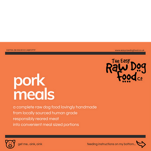 Easy Raw Dog - Pork with Veg