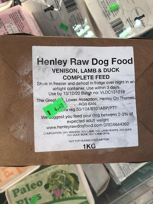 Henleys lamb, ox & duck 1kg