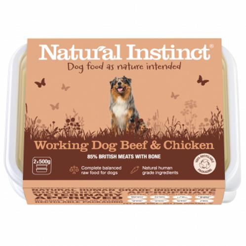 Natural instinct working dog Beef and Chicken 1kg