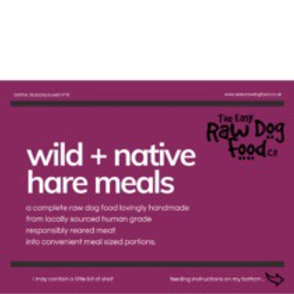 Easy raw dog - wild and native hare meals