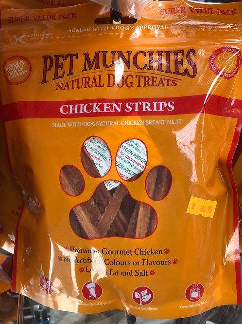 Pet munchie chicken strips 320g