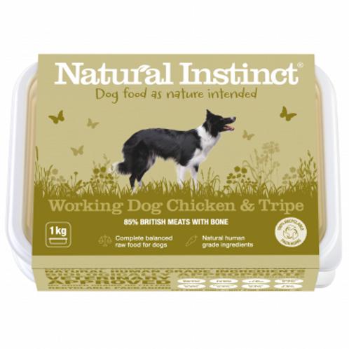 Natural instinct working dog Chicken and Tripe 1kg