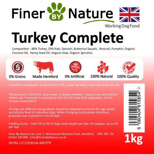 Finer by nature - Turkey complete 1kg