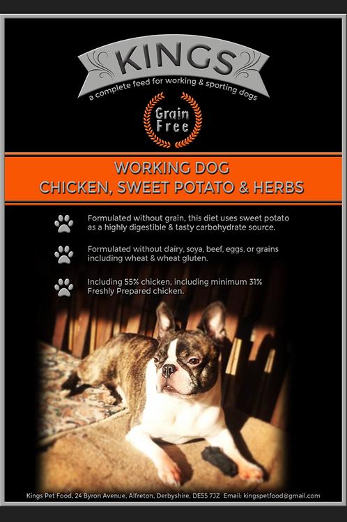 Kings, chicken, sweet potato & herb 15kg working dog