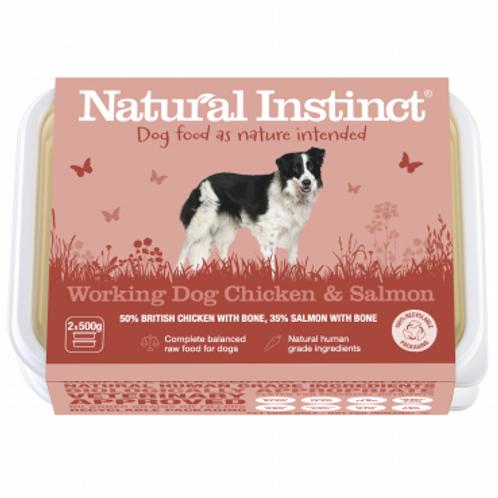 Natural instinct working dog Chicken and Salmon 1kg