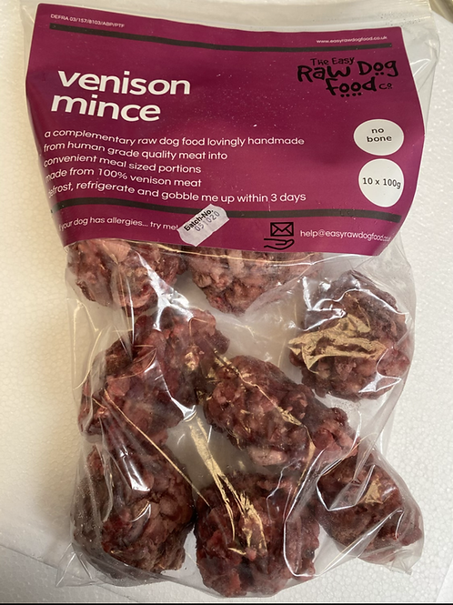 Easy Raw Dog- venison mince boneless 1kg