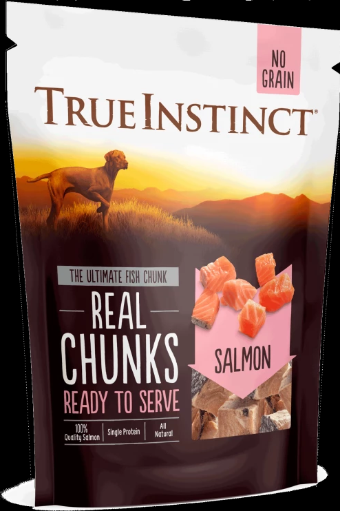 True Instinct Freeze-Dried Real Chunks Salmon Dog Treats 200g