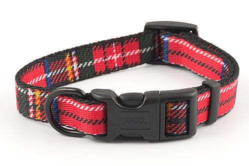 Ancol Tartan red adjustable collar