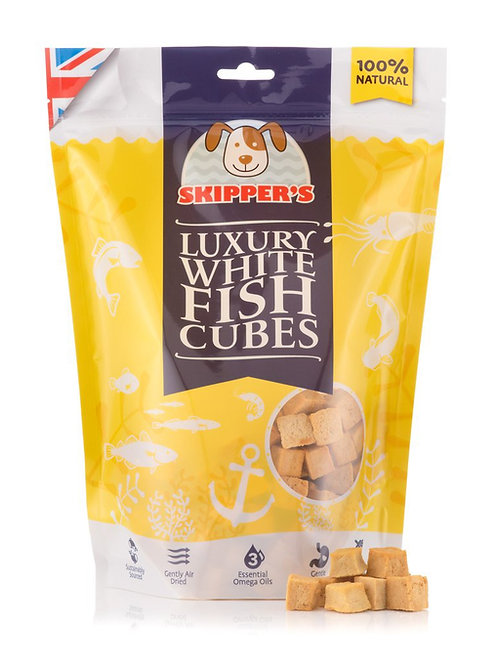 Skippers - luxury white fish cubes 250g