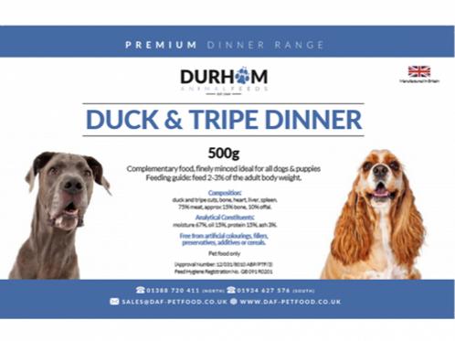 DAF Duck & Tripe Dinner with Fruit & Veg 500g