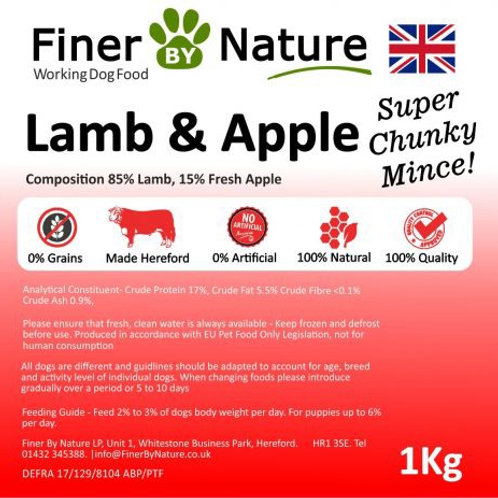 Finer by nature - lamb and apple (boneless)