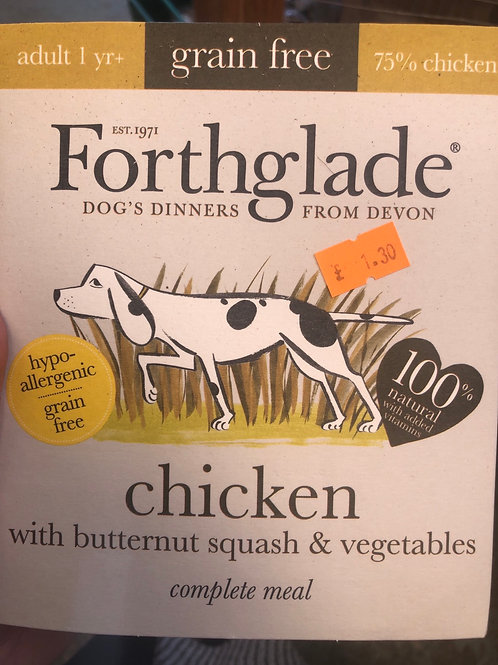 Forthglade grain free chicken 395g