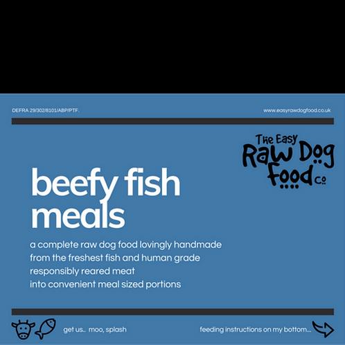 Easy Raw Dog - Beefy Fish with Veg