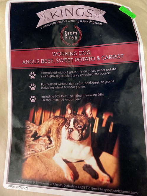 Kings Angus beef and sweet potato 15kg working dog