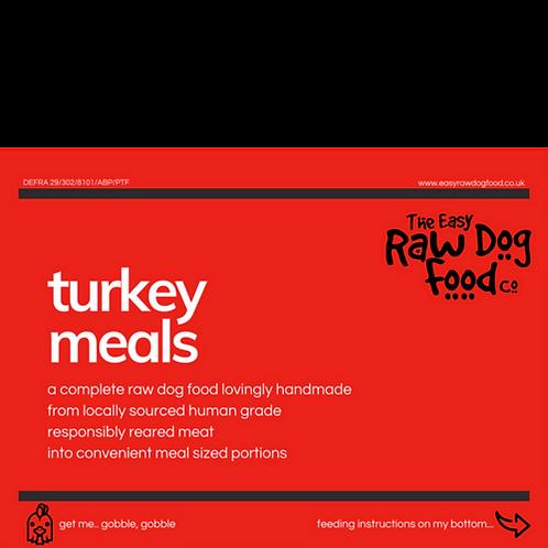Easy raw dog - Turkey with veg