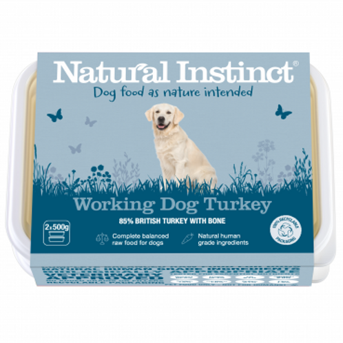 Natural instinct working dog Turkey 1kg