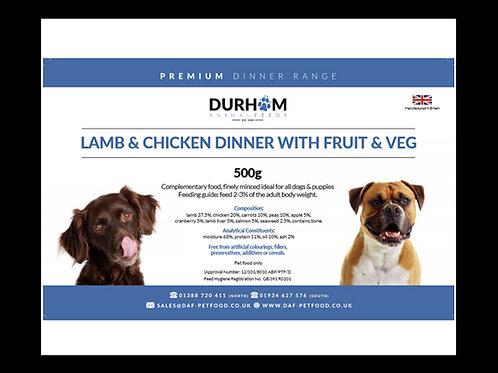 DAF Lamb & Chicken Dinner with Fruit & Veg 500g