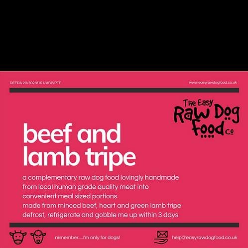 Easy Raw Dog - Beef and Lamb Tripe (boneless, no offal)