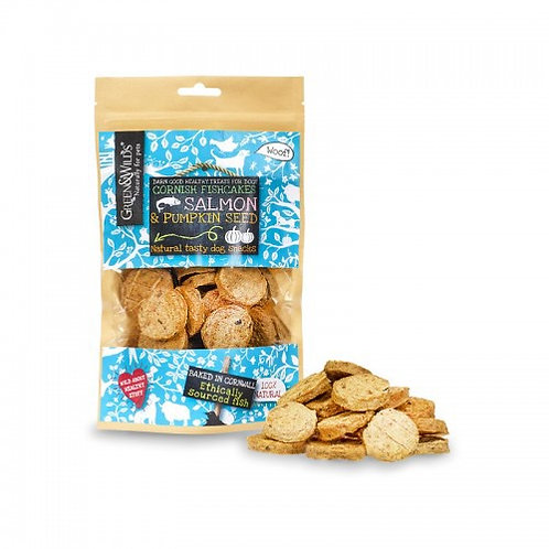 Green and wilds - salmon and pumpkin seed fish cakes 150g