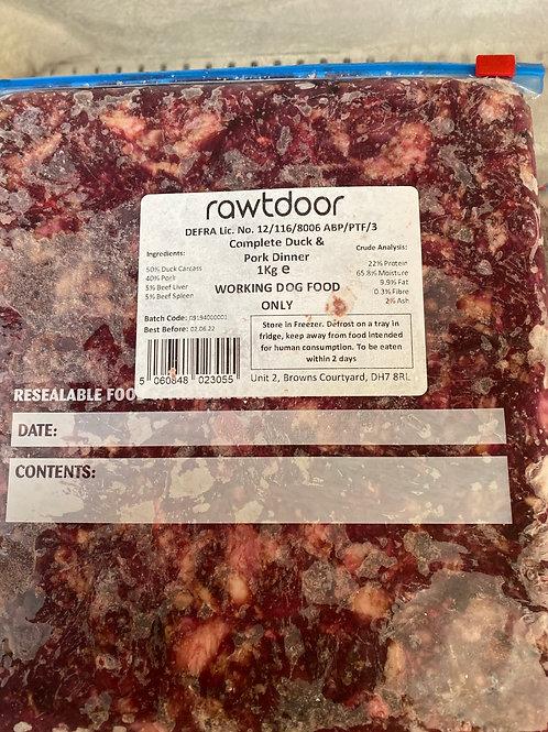 Rawtdoor - complete duck & pork dinner 1kg