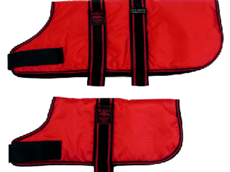 Animate padded coat red