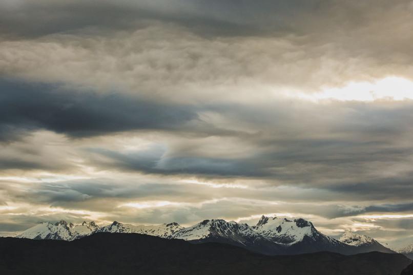 Fin de journée aux pieds des Andes