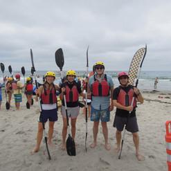 Ready to kayak La Jolla sea caves (July 2017)