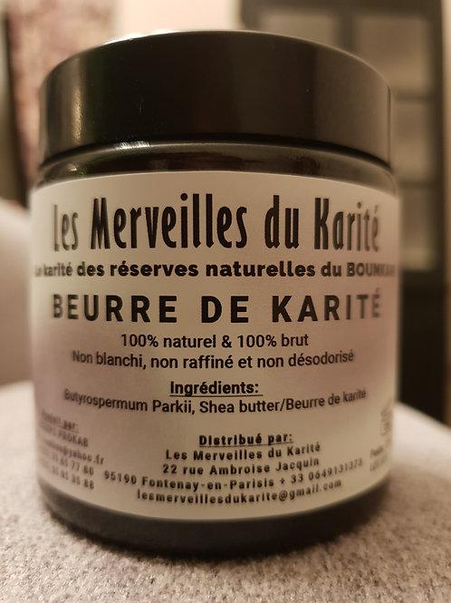 Pot en verre ambré - Beurre de Karité - 120ml