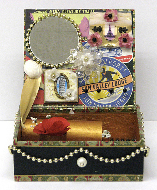 Vintage Travel Jewelry Box