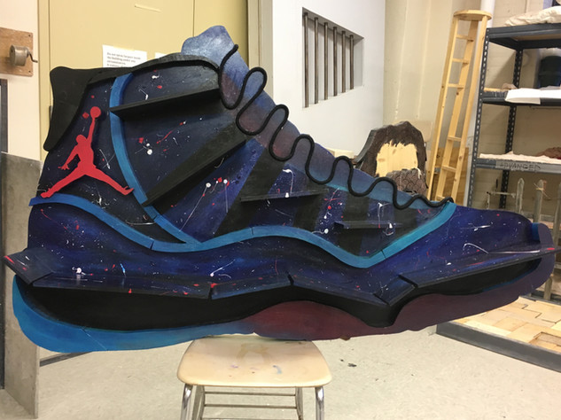 Customized Air Jordan 11 Galaxy Shelf