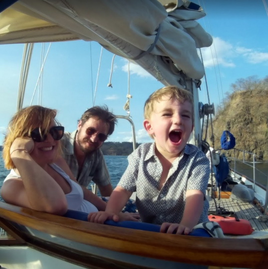 Family time on the Sea Bird Sailboat