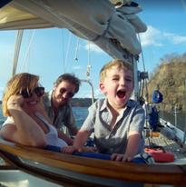 Family time on the Sea Bird Sailboat
